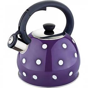 Чайник из нержавеющей стали со свистком 2 L Rainstahl RS 7638-20 Violet