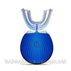 Ультразвукова електрична зубна щітка з автоматичною стерилізацією BeWhite Синя (190)