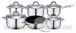 Набір посуду Edenberg з 12 предметів Сріблястий (EB-4001)