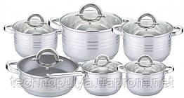 Набір посуду Edenberg з 12 предметів Сріблястий (EB-4013)