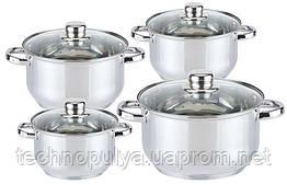 Набір посуду Edenberg з 8 предметів Сріблястий (EB-3734/SW-9994)
