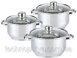 Набор посуды Edenberg из 6 предметов Серебристый (EB-3733/SW-9993)