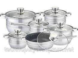 Набор посуды нержавеющая сталь Edenberg 12 предметов (EB-4040M)