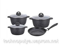 Набір посуду з мармуровим покриттям Benson BN-313 7 предметів (500035)