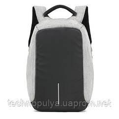 Городской рюкзак, для ноутбука, антивор, Bobby, Бобби ), цвет - серый