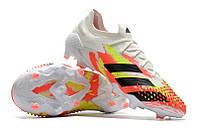 Футбольные бутсы adidas Predator Mutator 20.1 Low FG White/Core Black/Pop