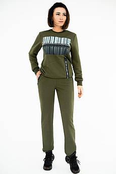 Модний спортивний костюм Штрих Код хакі