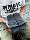 🔥 Чоловічі капці Puma чорні пляжні тапочки на літо, фото 2