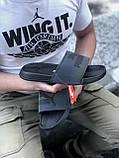 🔥 Чоловічі капці Puma чорні пляжні тапочки на літо, фото 4