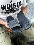 🔥 Чоловічі капці Puma чорні пляжні тапочки на літо, фото 3