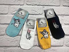 Женские носки, спорт поголёнок Р.р 36-41 кошка