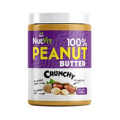 Арахисовая паста OstroVit 100% Peanut Butter 1000 грамм crunchy