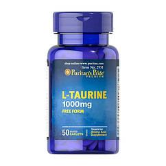 Таурин Puritan's Pride L-Taurine 1000 mg free form 50 капсул