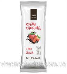 Шоколад без сахара SHIRATAKI KONJAK CHOCOLATE Клубничный (30 грамм)