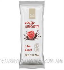 Шоколад без сахара SHIRATAKI KONJAK CHOCOLATE Малиновый (30 грамм)