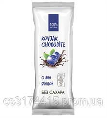 Шоколад без сахара SHIRATAKI KONJAK CHOCOLATE Черничный (30 грамм)