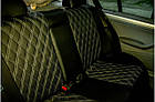 Чехлы на сиденья КИА Соул (KIA Soul) (модельные, 3D-ромб, отдельный подголовник), фото 3