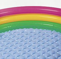 """Дитячий надувний круглий басейн Intex """"Веселка"""" 86х25 см різнобарвний з надувним дном для малюків 58924, фото 5"""