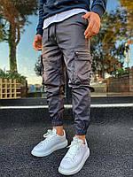 Брюки карго мужские штаны Темно-синий Спортивные Под рубашку Футболку Худи На резинке внизу Для мужчин на лето