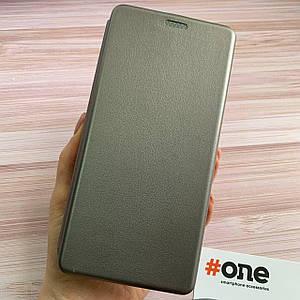 Чехол книга для Samsung Galaxy A71 с эко кожи с подставкой магнитом книжка на телефон самсунг а71 серая STN