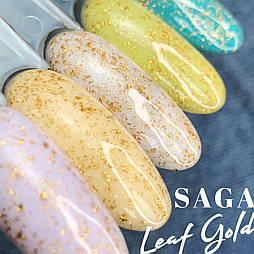 Топ с золотыми хлопьями потали Saga Leaf Gold, 8мл