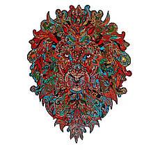 Дерев'яний пазл Лев