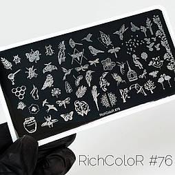 Пластина для стемпинга RR-76 на пластиковій основі.