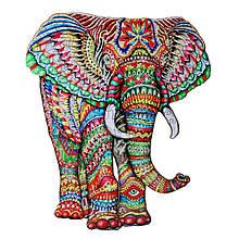 Деревянный пазл Слон