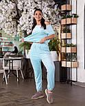 Прогулочный костюм женский с футболкой и штанами, фото 6