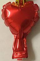 """Фольгированный шар без рисунка """"Серддце красное"""" 4"""""""