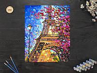 "Картина по номерам ""Цветущий Париж Эйфелева башня"" 40х50 см"