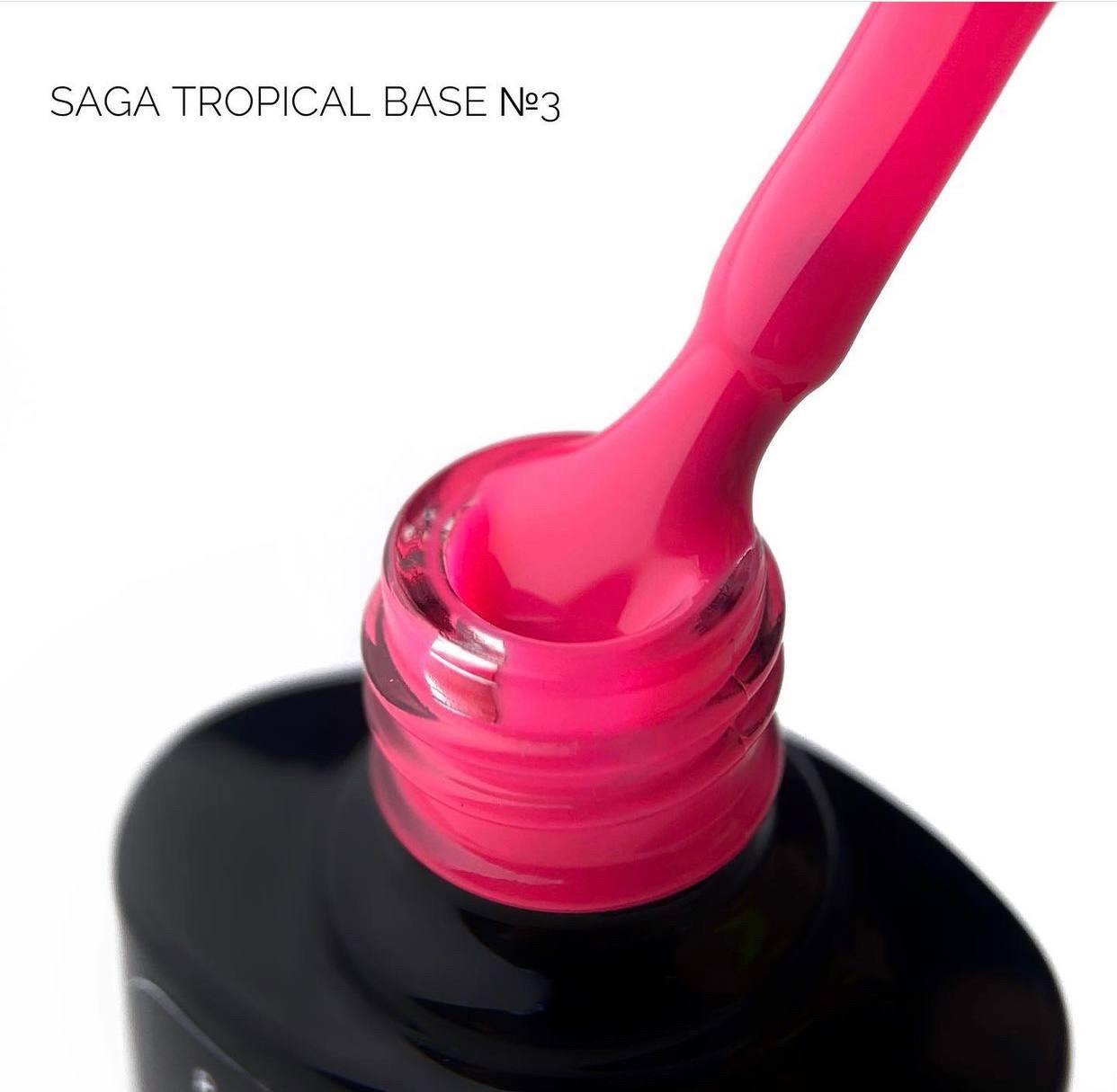 """Цветная база от """"Saga"""", tropical base 03, 8 мл"""