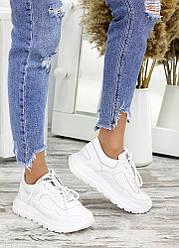 Кросівки білі шкіряні 7663-28