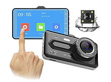Автомобильные видеорегистратор T686 сенсорный + камера заднего вида