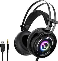 Геймерські навушники iPega PG-R008 з RGB підсвіткою (Чорна)