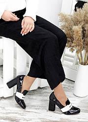 !Туфлі шкіра чорний лак Loft 7695-28