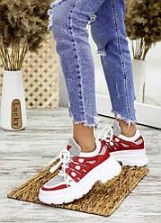 Літні кросівки шкіра + сітка 7702-28