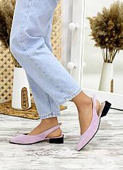 Туфлі, босоніжки фіалка замша Rose 7708-28