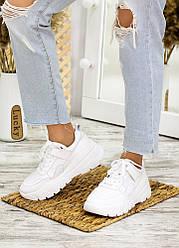 Кросівки білі шкіра лак 7710-28