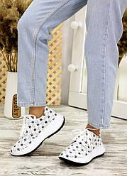 Кросівки біла шкіра зірки 7713-28