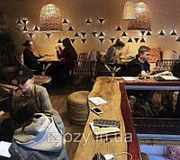 Плетёные люстры для кафе из лозы