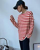 Женская стильная полосатая кофточка-тельняшка, фото 1