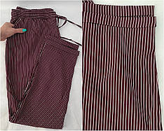 БАТАЛЬНЫЕ летние штаны N° 24(бордовый)