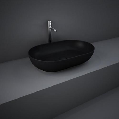 Раковина на столешницу FEECT5500504A FEELING овальная, черная матовая, 55см