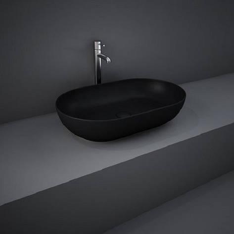 Раковина на столешницу FEECT5500504A FEELING овальная, черная матовая, 55см, фото 2