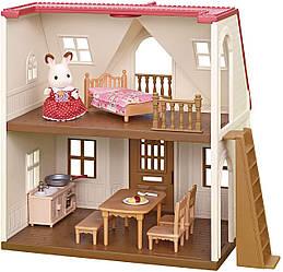 Сильваниан фэмилис Будиночок шоколадного кролика Sylvanian Families CalicoCritters Red Roof Cozy Cottage