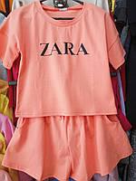 Подростковый костюм с шортами ZARA для девочки размер 7-12 лет,цвет уточняйте при заказе, фото 1