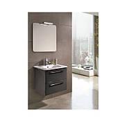 Комплект мебели: PRIMERA C0072911 KLEA тумба+раковина+зеркало 60см, серый глянцевый
