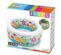 """Дитячий надувний круглий басейн Intex """"Акваріум"""" 58480 для дому і дачі для дітей 152х56см, фото 2"""