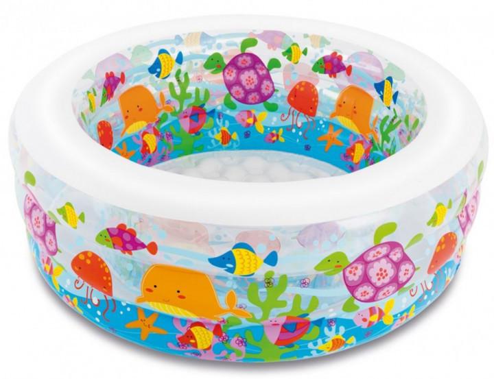 """Дитячий надувний круглий басейн Intex """"Акваріум"""" 58480 для дому і дачі для дітей 152х56см"""